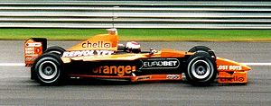 Orange (UK) - An Orange Arrows F1 car.