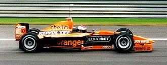 Orange UK - An Orange Arrows F1 car.