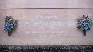 Joseph Sadoc Alemany - Alemany's vault at Holy Cross