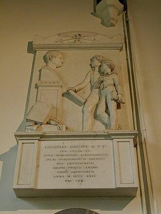 Joseph Drury - Joseph Drury memorial, St Mary's, Harrow on the Hill