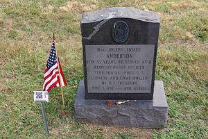 Joseph Anderson - Anderson's grave.