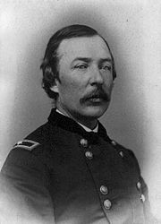 Photo of man in moustache in Civil War era Brigadier General USA uniform