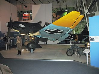 Royal Air Force Museum London - Junkers Ju 87 Stuka on display in the Bomber Hall as part of the Battle of Britain exhibition