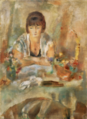 JulesPascin-1928-Portrait of Lucy at Table.png