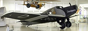 Deutsche Luft Hansa - A preserved Junkers F.13, a type which was operated by Luft Hansa.
