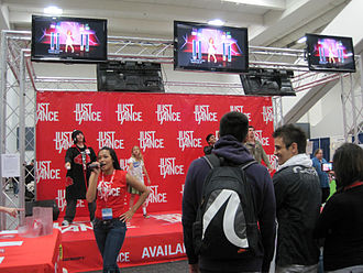 Just Dance (video game) - Just Dance booth at WonderCon 2010.
