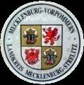 KFZ-Zulassungsplakette des Landkreises Mecklenburg-Strelitz, Mecklenburg-Vorpommern.png