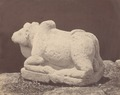 KITLV 87722 - Isidore van Kinsbergen - Sculpture of Nandi from the Dijeng plateau - Before 1900.tif