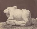 KITLV 87722 - Isidore van Kinsbergen - Sculpture of Nandi from the Dijeng plateau - Before 1900.tif