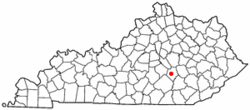 Location of Mount Vernon, Kentucky