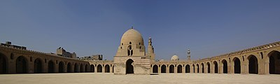Kairo Ibn Tulun Moschee BW 0.jpg