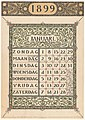 Kalenderblad voor januari 1899, RP-P-1925-1071.jpg