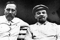 Kamenev y Lenin