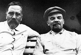 Lev Kamenev - Kamenev and Lenin at Gorki, 1922