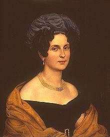 Karoline Seidler-Wranitzky, Porträt von Carl Joseph Begas, 1825 (Quelle: Wikimedia)