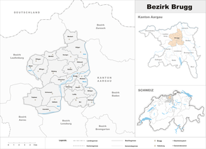Map of Brugg district