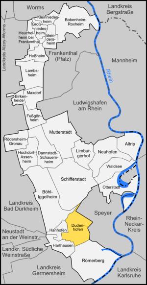 Dudenhofen - Image: Karte Dudenhofen
