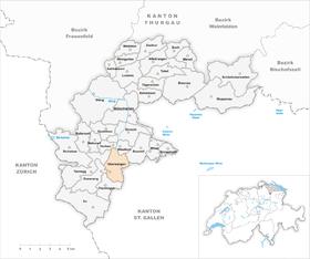 Karte Gemeinde Oberwangen 1971
