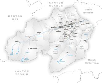 Vella - Image: Karte Gemeinde Vella