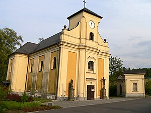 Moravian-Silesian Region - Undermined church in Karviná