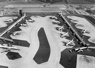 Copenhagen Airport - Kastrup Airport in the 1960s.