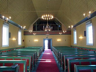 Kautokeino Church - Image: Kautokeino Church, facing the entrance (2014)