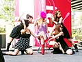 Keiko Bando with dancers - AKIBA ICHI Golden Week Special Live 2010 (2010-05-05 15.20.47) clip.jpg