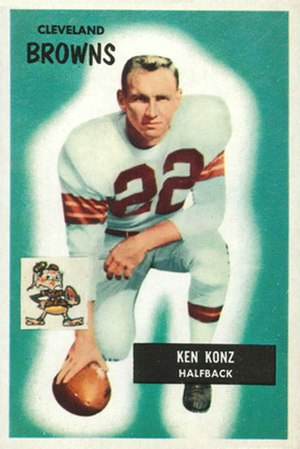 Ken Konz - Konz on a 1955 Bowman football card