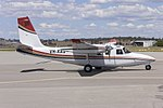 Kennedy Aviation (VH-XAS) North American Rockwell Shrike Commander 500S taxiing at Wagga Wagga Airport.jpg