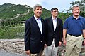 Kerry, Lew and Baucus at Great Wall 2014.jpg