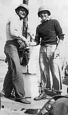 Kesnick and Guzda on USS PC-552