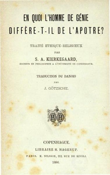 File:Kierkegaard - En quoi l'homme de génie diffère-t-il de l'apôtre?.djvu