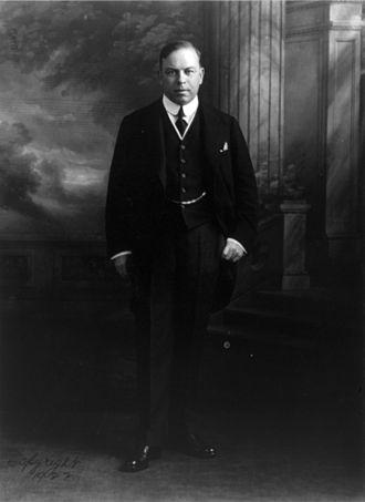 National War Memorial (Canada) - Prime Minister William Lyon Mackenzie King in 1922