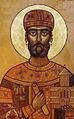 King David II Aghmashenebeli in Sveti Cathedral Georgia (crop).jpg