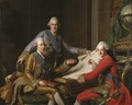 King Gustav III of Sweden and his Brothers (Alexander Roslin) - Nationalmuseum - 18013.tif