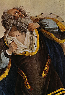 Engraving depicting Ludwig Devrient as King Lear, probably from Jean-François Ducis' production (Source: Wikimedia)