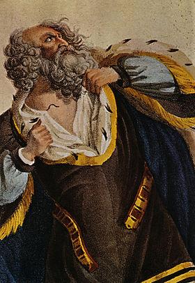 Gravure anonyme représentant Ludwig Devrient dans le rôle de Lear, probablement dans la version de Jean-François Ducis