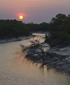 King River (Kimberley, Western Australia) - Sunset over the King River as seen from the King River Road