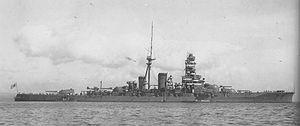 Japanese battleship Kirishima - Kirishima in 1932, following her first reconstruction
