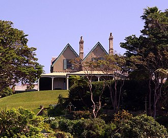Kirribilli House - The eastern side of Kirribilli House, as seen from a commuter ferry.