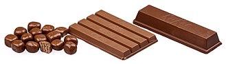 Kit Kat - Kit Kat varieties: Pop Choc, regular and Chunky (or Big Kat)
