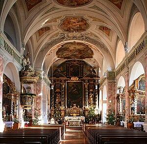 Gars Abbey - Image: Klosterkirche Gars am Inn, Innenraum