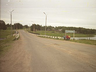 Kollaa River - Road R21 crosses the river at Kolatselga