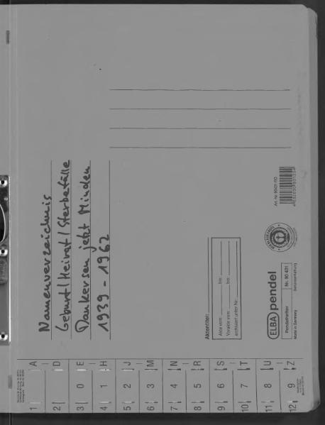 File:Kombiniertes Namensverzeichnis zu den Geburts-, Heirats- und Sterberegistern des Standesamtes Dankersen, 1939 bis 1962.djvu