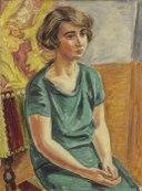 Konstnären Greta Knutson (Birger Simonsson) - Nationalmuseum - 97944.tif