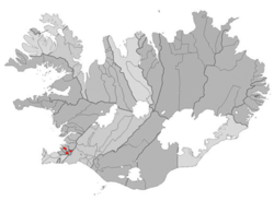 Location o the Municipality o Kópavogur