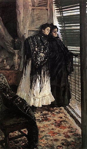 Konstantin Korovin - Korovin. On the Balcony, Spanish Women Leonora and Ampara, 1897–1898