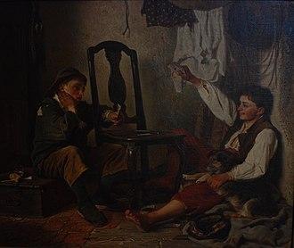 Ferdinand Fagerlin - Image: Kortspelande gossar Ferdinand Fagerlin