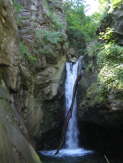 A waterfall near the village of Kostenets