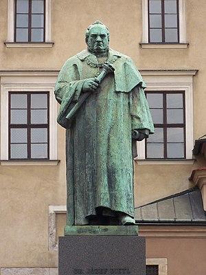 Xawery Dunikowski - Statue of mayor Józef Dietl in Kraków by Xawery Dunikowski